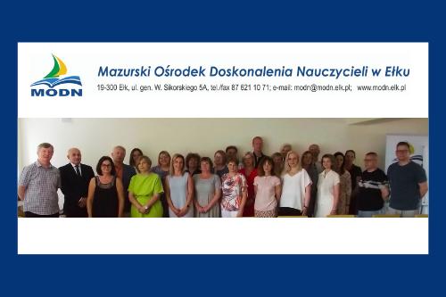 Podsumowanie pracy Mazurskiego Ośrodka Doskonalenia Nauczycieli  w Ełku w roku szkolnym 2020/2021